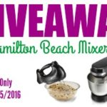 Hamilton Beach Mixer Set Giveaway