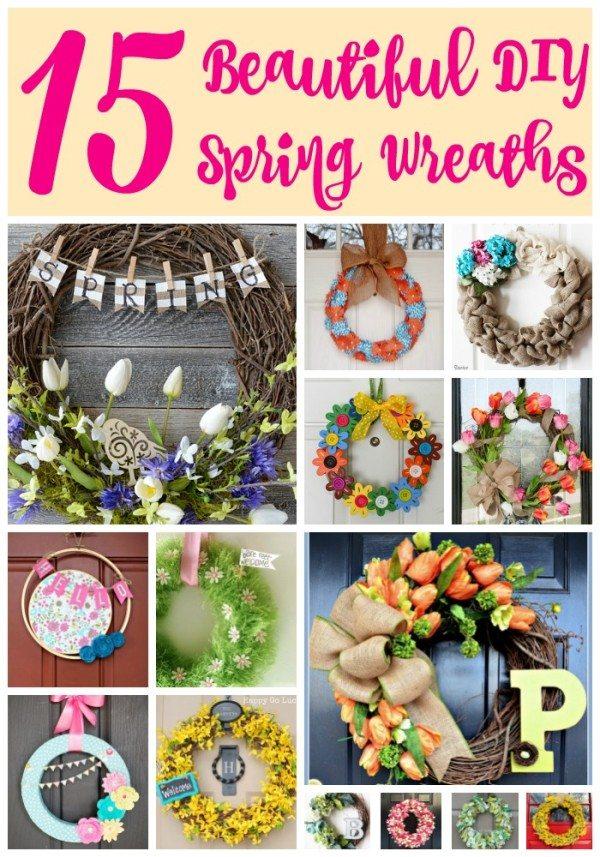 15 Beautiful DIY Spring Wreath