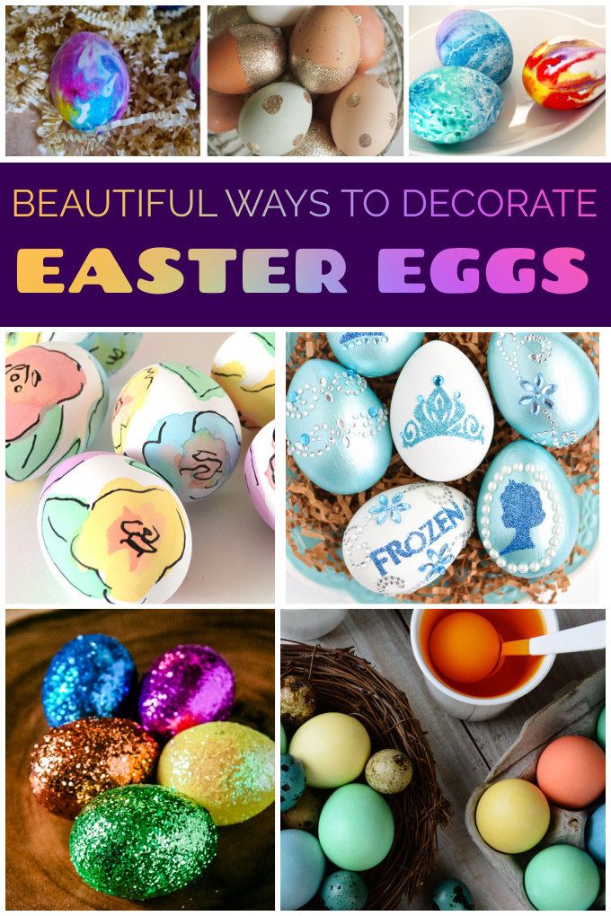 Easter Egg Designs Ideas - Check out these creative, beautiful and easy Easter Easter Egg Designs and get inspired to make your own gorgeous out-of-the-box Easter eggs this year! via @jugglingactmama