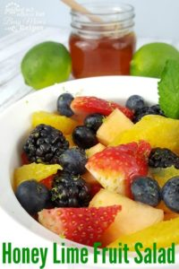 Honey Lime Fruit Salad is perfect for Easter!