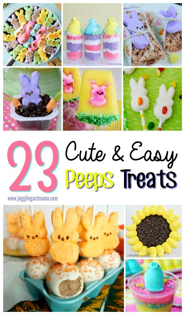Peeps Treats for Easter are a fun way to incorporate a bit of whimsy into your desserts and Easter baskets.