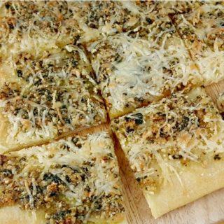 Tarragon and Walnut Pesto Flatbread