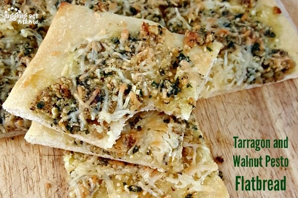 Tarragon Walnut Pesto Flatbread Appetizer