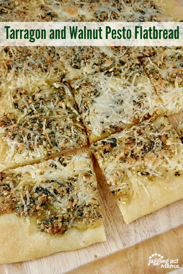 Tarragon and Walnut Pesto Flatbread