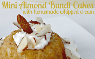 Mini Almond Bundt Cakes with Homemade Almond Whipped Cream