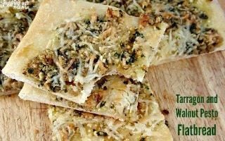 Tarragon Walnut Pesto Flatbread