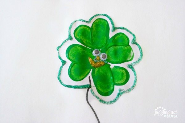 Keepsake Thumbprint Shamrock