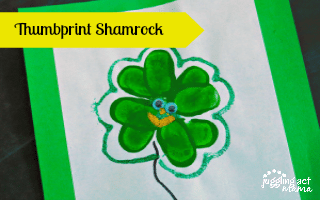 Easy Last Minute Keepsake Thumbprint Shamrock