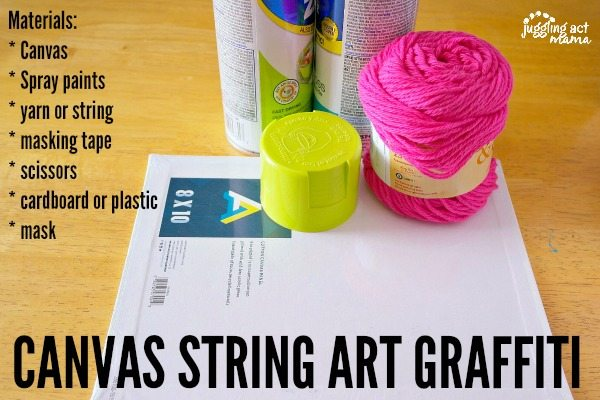 Canvas String Art Graffiti Materials.