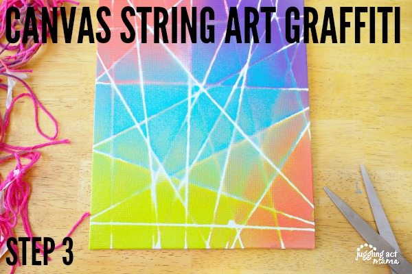 Canvas String Art Graffiti Step 1