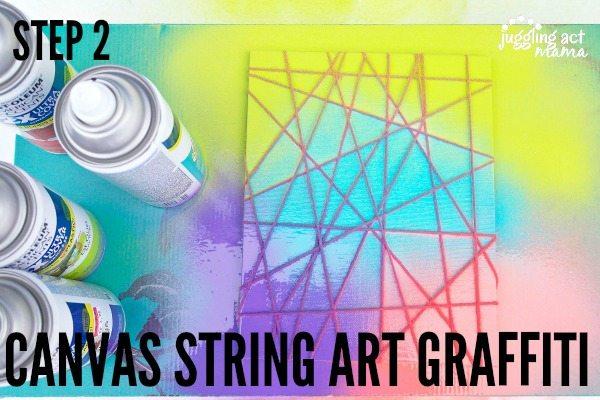 Canvas String Art Graffiti Step 2