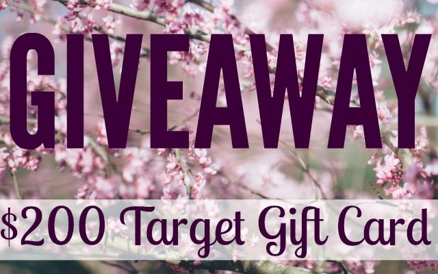 Spring Target Giveaway - enter for a chance to win a $200 Target Gift Card