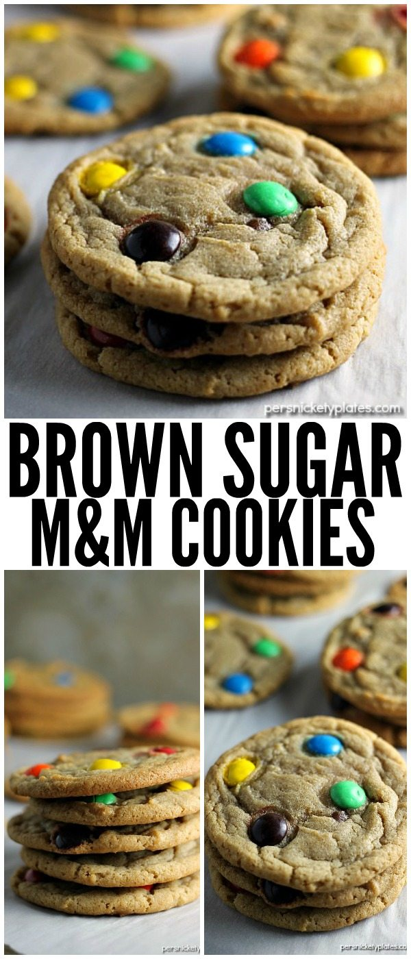 This Brown Sugar M and M Cookie is a fun twist on the traditional sugar cookie. | Persnickety Plates