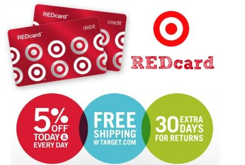 Apple for the Target Red Card and get 5% back!