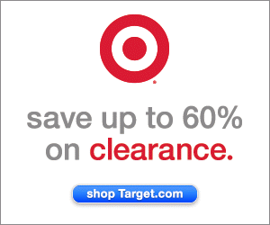 Save up to 60% on Clearance items at Target