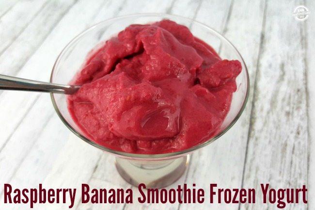 Raspberry Banana Smoothie Frozen Yogurt via Kids Activities Blog