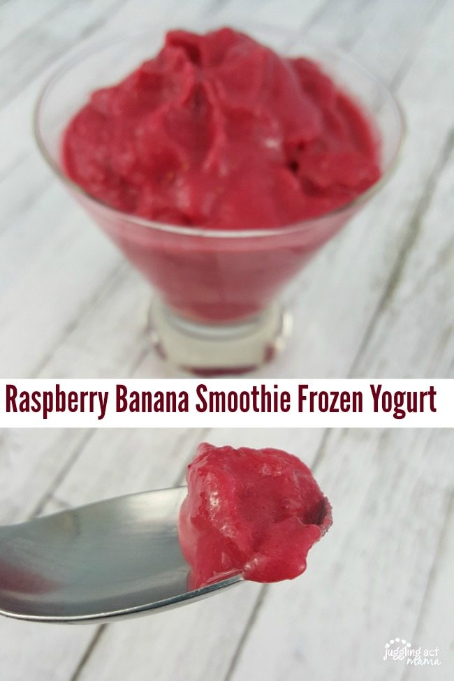 Raspberry Banana Smoothie Frozen Yogurt via Kids Activities Blog