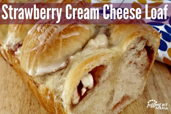 Strawberry Cream Cheese Loaf #sp
