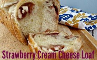 Strawberry Cream Cheese Pull Apart Bread