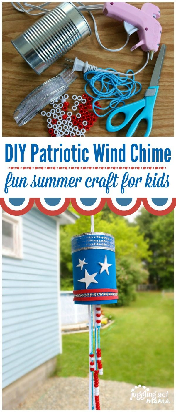 diy wind chime ghost craft patriotic wind chime craft juggling act 6467