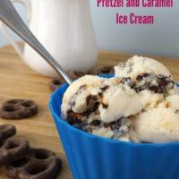Homemade Chocolate Covered Pretzel and Caramel Ice Cream #sp #OakhurstDairy #SoWorthIt