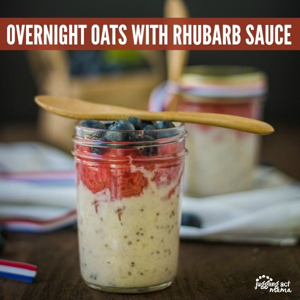 Overnight Oats with Homemade Rhubarb Sauce