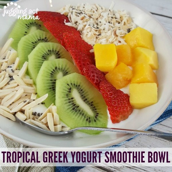Tropical Greek Yogurt Smoothie Bowl - Juggling Act Mama