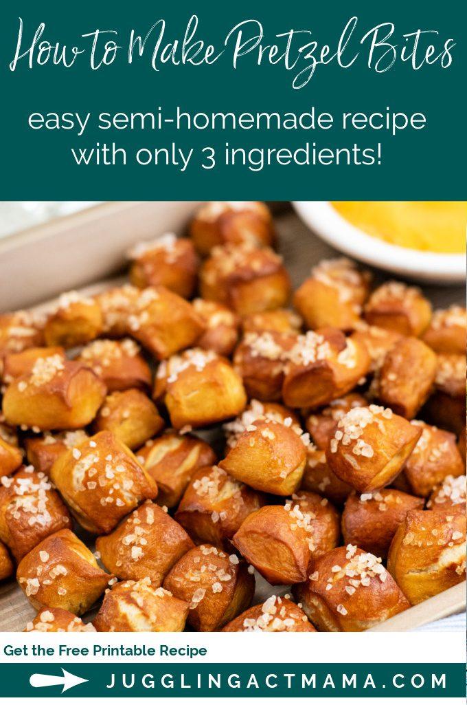 A supermarket shortcut makes learning how to make pretzel bites easy and fun. via @jugglingactmama