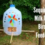 Sequined Milk Jug Bird Feeder