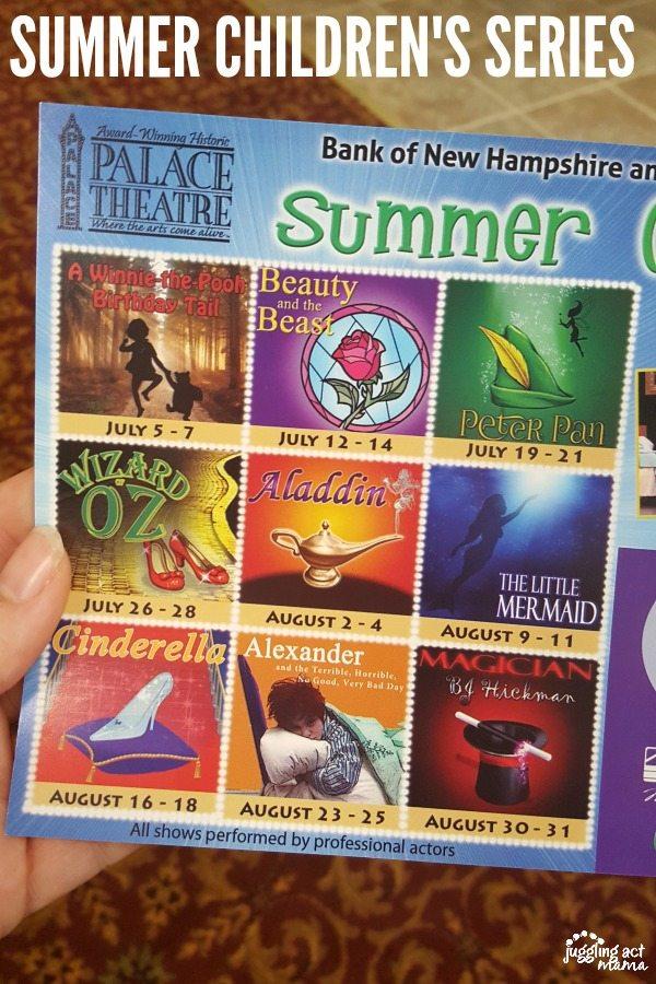 SUMMER CHILDREN'S SERIES #sponsored #PalaceTheater #NH