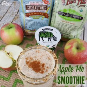 Apple Pie Smoothie with Stonyfield and Bob's Red Mill ingredients #sponsored