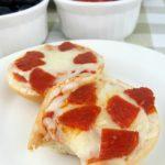 Easy Pizza Minis ready in no time! #ad #FrozenDough #RhodesBread