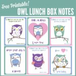 Free Owl Lunch Box Notes