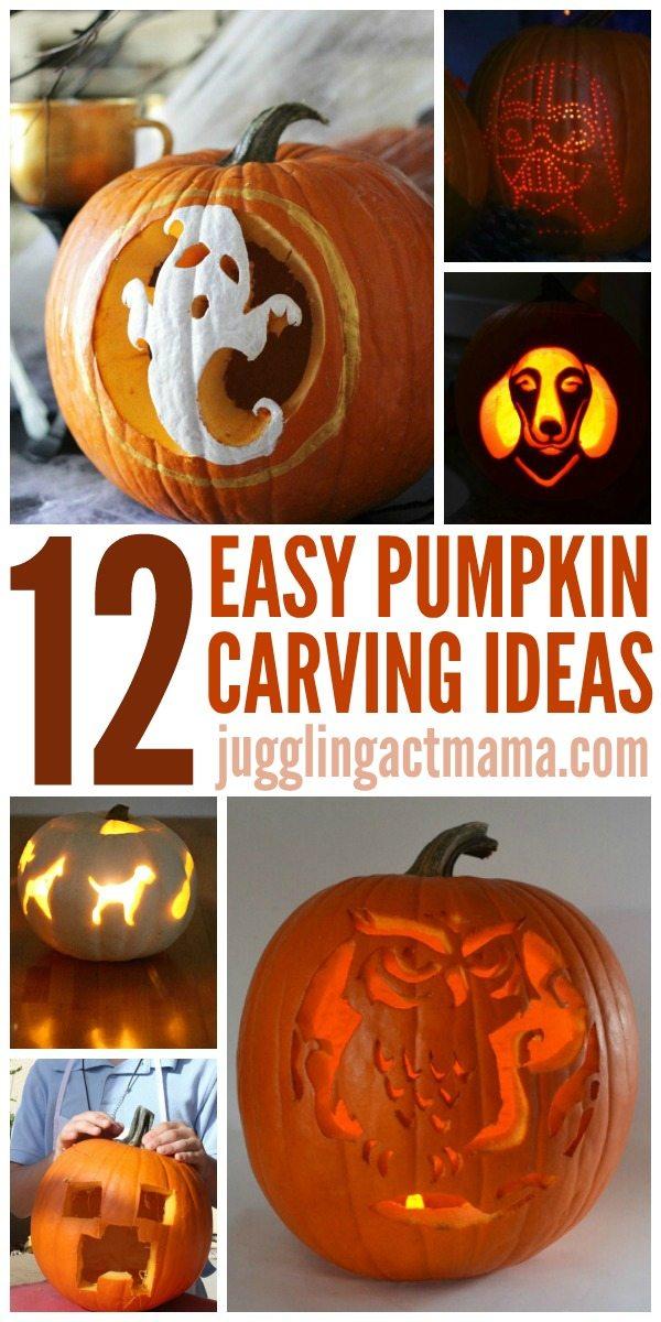 Easy pumpkin carving tutorials juggling act mama