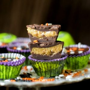 2 ingredient Halloween homemade peanut butter cups