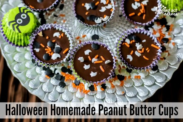 Homemade Halloween Peanut Butter Cups