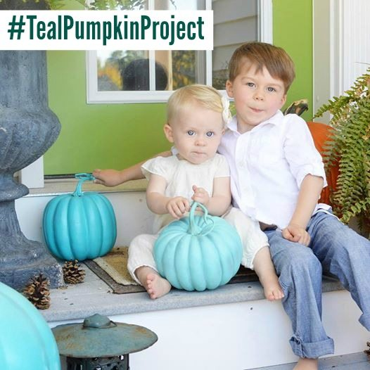 Teal Pumpkin Project with Jack and Addie
