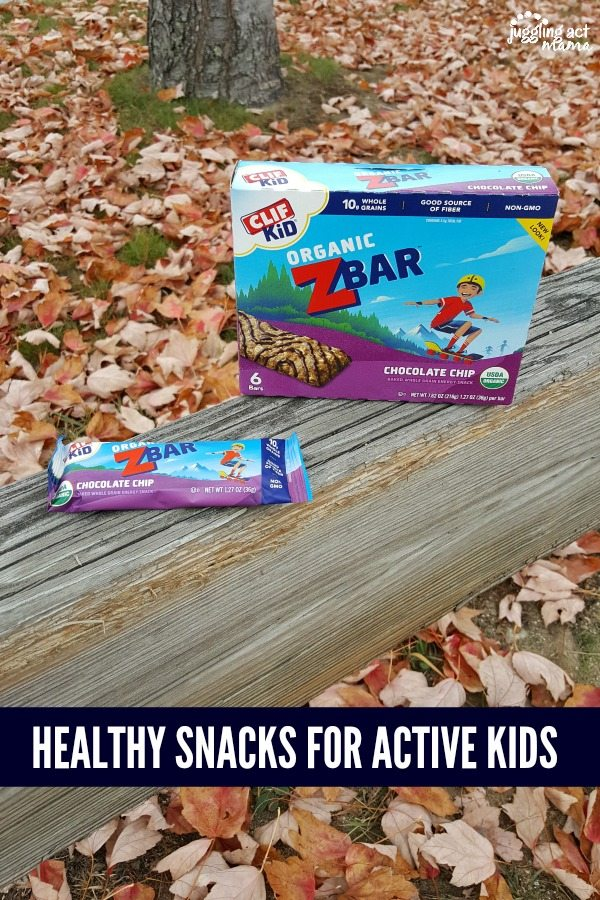 CLIF Kids Zbar healthy snacks #ad