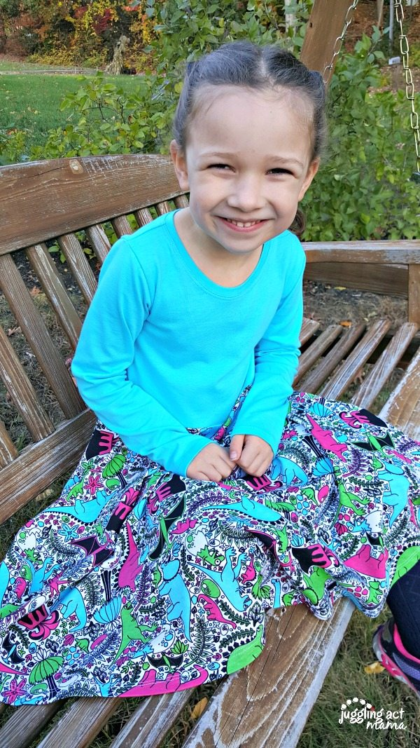 Olivia Princess Awesome Dinosaur Dress #sponsored
