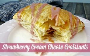 Strawberry Cream Cheese Croissants