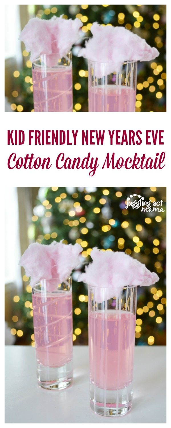 Cotton Candy Drink in Champagne Glasses