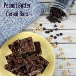 Chocolate Peanut Butter Cereal Bars #ad #EarnWithBoxTops #CollectiveBias