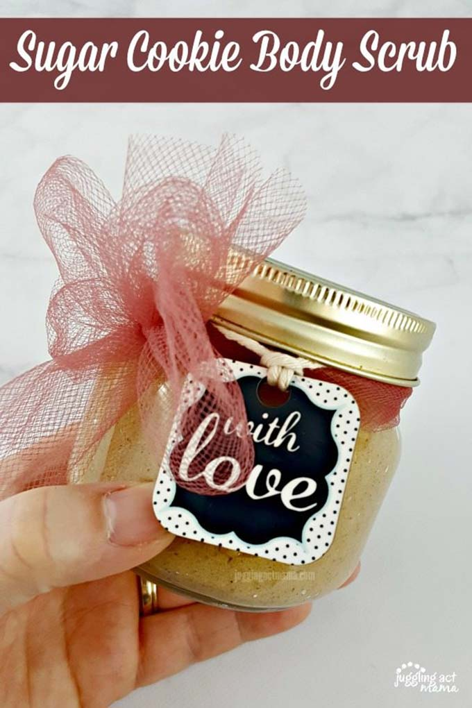 DIY Sugar Cookie Body Scrub with coconut oil