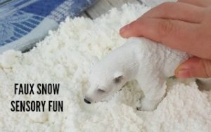 Faux Snow Sensory Fun Project + $5000 Contest
