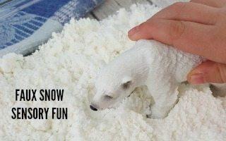 Faux Snow Sensory Fun Project + $5000 Contest