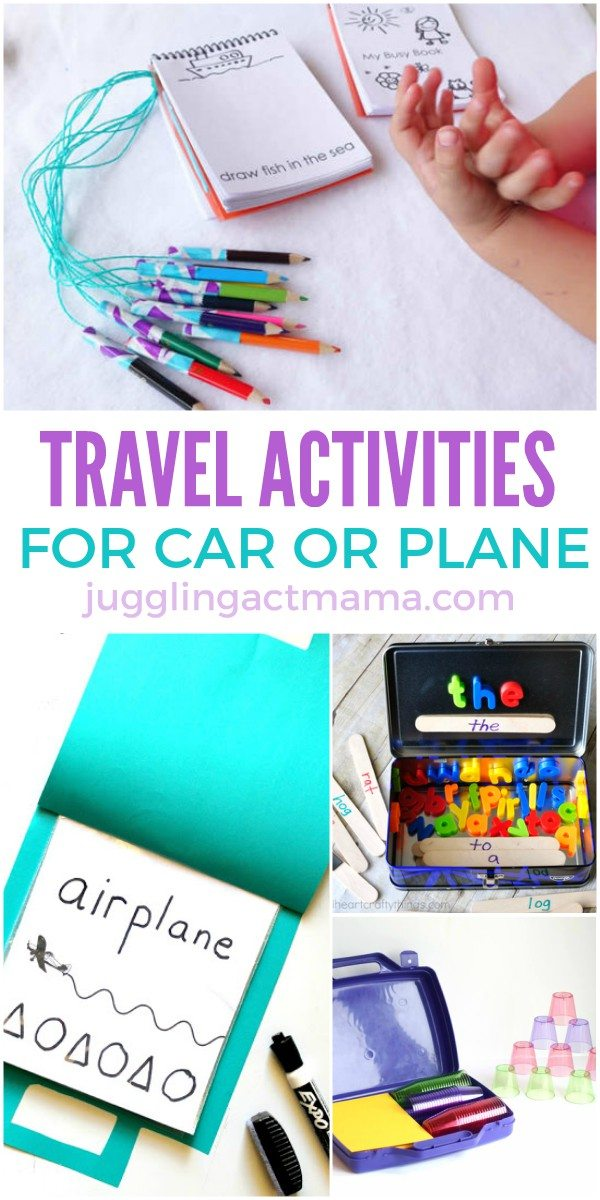 Fun travel activities for car or plane trips