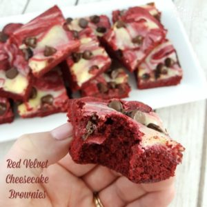 Homemade Red Velvet Cheesecake Brownies