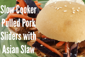 Slow Cooker Pulled Pork Sliders + Asian Slaw