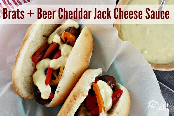 Brats + Beer Cheddar Jack Cheese Sauce #gameday