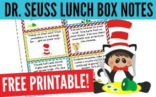 Fun Dr Seuss Lunch Box Notes